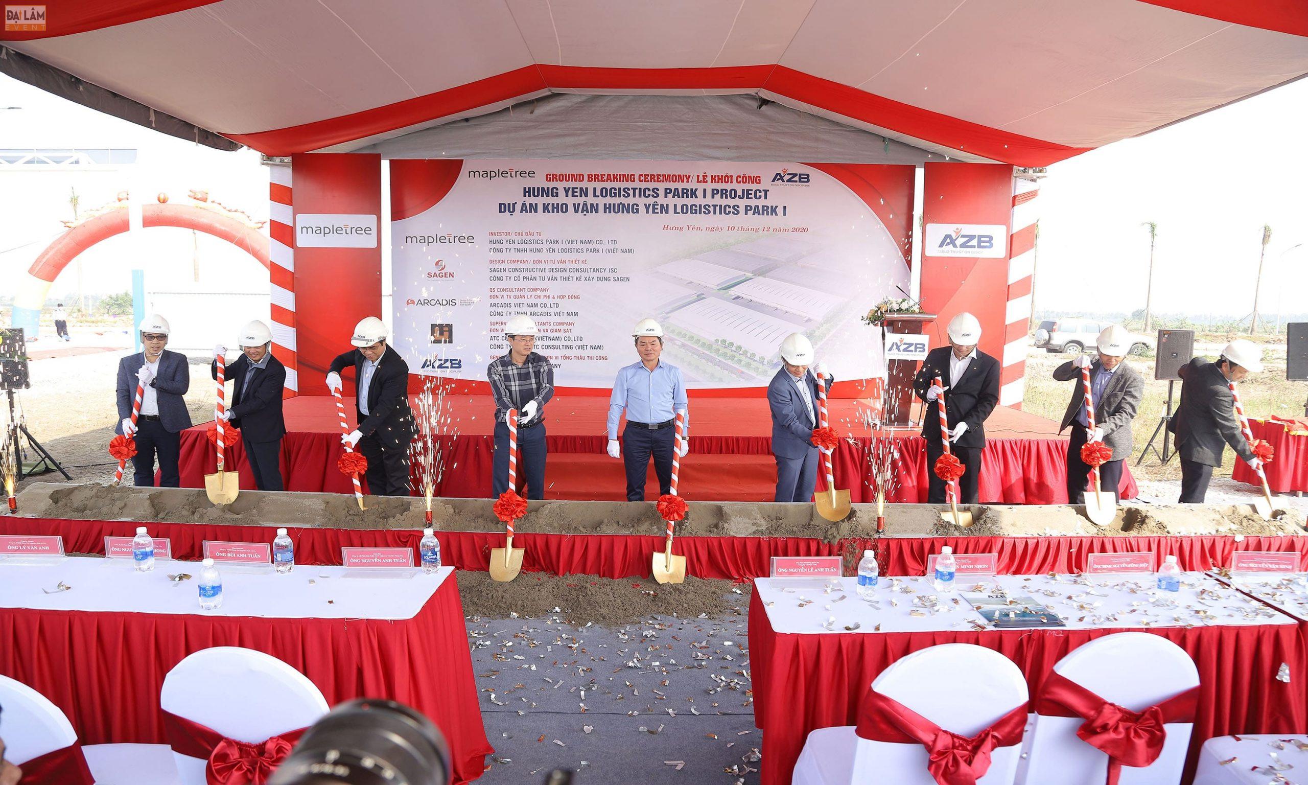 tổ chức lễ khởi công động thổ nhà máy điện gió